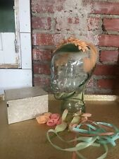 Vintage 1940's Headpiece Wedding Party Fun Flapper Peach Feathers with Pearls