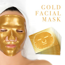 Premium Collagen Crystal Face Masks Anti Ageing Skin Care Gold White x5 x10 x50