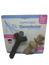 Benebone Puppy 2 PackMaplestick Zaggler Dog Chew Toy Made USA Real Bacon Maple
