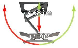 TV-Wandhalterung, quipma 328, schwenkbar, schwarz, 26-46 Zoll, bis VESA400, 37kg