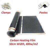 New Type Carbon 400w/m2 220V Infared Underfloor Heating Film Kits Warm Floor Mat