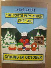 vintage 1998 The South Park Album Chef Aid original comedy cartoon poster  9635