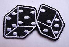 dice patch badge hot rod rockabilly motorcycle biker chopper tattoo lucky 7