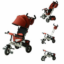 Qaba 2-in-1 Baby Ride On Tricycle Trike Stroller Push Toddler Steel Play Red