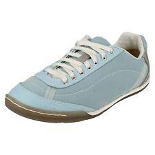 Ladies Caterpillar blue textile lace up trainer Clarify size UK 3