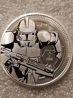 Clone Trooper Star Wars 1 oz. 999 Silver Coin 2 dollar Niue Darth Vader Henchman
