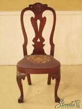 43922EC: KITTINGER CW-146 Colonial Williamsburg Mahogany Needlepoint Chair