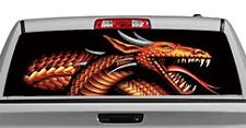 Truck Rear Window Decal Graphic [Tattoos & Themes / Fire Power] 20x65in DC41003