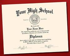 Novelty Fake High School Diploma prop gift