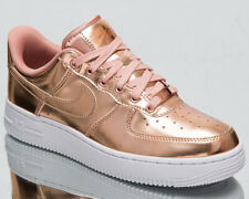 Nike Air Force 1 Low Metallic Bronze Women's Rose Gold Lifestyle Sneakers Shoes