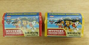 Paw Patrol Mystery Treasure Chests Lot of 2 New Sealed Surprises Included