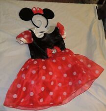 New Disney Toddler Girl Minnie Mouse Costume Dress Up Size 2T