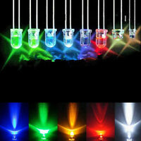Green Red White Blue Yellow LED Light Bulb Emitting Diode Lamps 100pcs 3mm