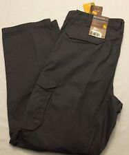 NWT Men's CARHARTT Relaxed Fit Tappen Cargo Rip-Stop Pant 101148 Gray 039 FORCE