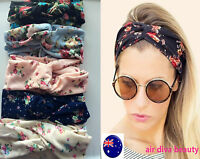lady Women Boho Bohemian Party Cross cotton floral flower Hair head band Bandana