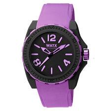 WATX & COLORS Unisex Watches, 3 Models, Chose Your Best Colour Purple/Black/Pink