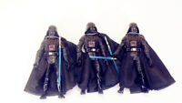 "LOT of 3 Hasbro Star Wars DARTH VADER ACTION FIGURE 3.75"" #s2"