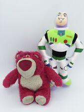 Disney Store Toy Story Buzz Lightyear Lotso Bear Plush Doll LOT Stuffed Animal