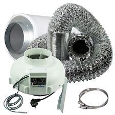Prima Klima-Set Thermoregler Lüfter 800m3/h mit AKF 700m³ - 900m³ Filter Grow