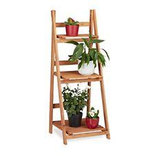 Relaxdays Escalier pour Plantes bois Échelle Plante Support Intérieur HxLxP 107