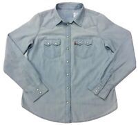 Levi's Women's Chambray Light Washed Western Shirt XS/M/XL