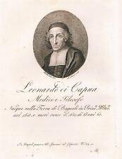 Bagnoli Irpino  Principato Ulteriore  Medicina  Filosofia - LEONARDO DI CAPUA.