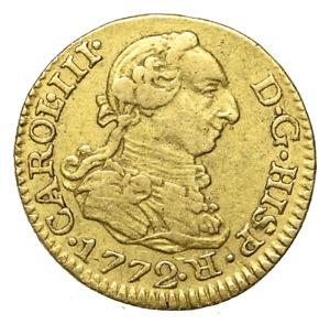 SPAIN, Carlos III. Gold 1/2 Escudo, 1772