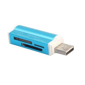 Kartenlesegerät Kartenleser Card Reader Micro SD MMC M2 TF USB2.0 Stick Blau