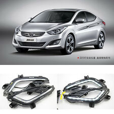 LED DRL Daytime Running Day LED Lamp Light For Hyundai Elantra 2012~2014