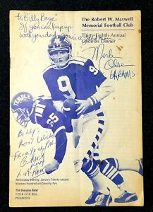 1974 Merlin Olsen Chuck Knox Autographed Maxwell Bell Award Program L.A Rams