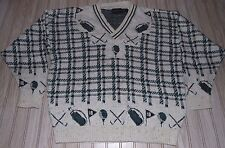 vtg JACK nicklaus SWEATER pullover GOLF golfing JAYMAR ruby UNIQUE design V NECK