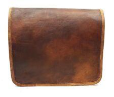 """13"""" Leather Messenger Satchel Bag - Full Flap Laptop Shoulder Bag - MacBookPro"""