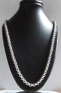 925 sterling Silver 22 Inch Heavy Belcher Necklace chain 29 Grams 4.4mm Hallmark