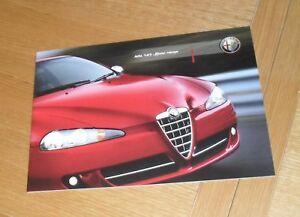 Alfa Romeo 147 Sport Brochure 2007-2008 - 1.6 TS 1.9 JTDm 16v Q2 - UK Market