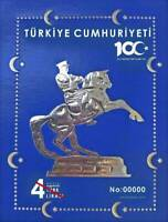 Turkey 2019 100th Year National Struggle Horse Unique Foil Miniature sheet MNH