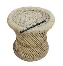PatioStack Cane Stools Bamboo Stools Outdoor Stools Bar Bamboo Ottoman Rattan