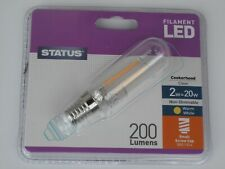 Cooker Hood Lamp 2w= 20w 240v SES Clear LED Filament  E14 T25 Light Bulb Status