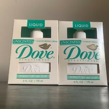 DOUBLE PACK Vintage USA Liquid Unscented Dove Beauty Wash 6 oz lever Soap