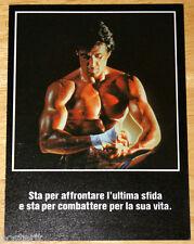 brochure originale ROCKY IV  Sylvester Stallone Dolph Lundgren 1985 BOXE