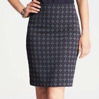 NWT Ann Taylor Womens Size 10 Deco Jacquard Siren Pencil Skirt