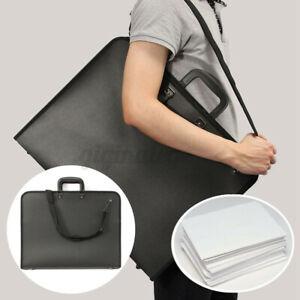 A2 DESIGN PORTFOLIO WATER PROOF BLACK CASE ART WORK PAINTING FOLDER BAG UK