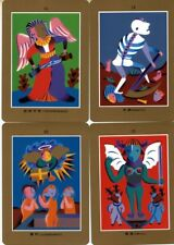 Oop Tarot Text Game abstract clown-like figures 22 major arcana cards deck