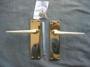 Plain Brass door handles
