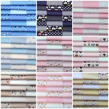 """fabric patchwork squares cotton quilting craft 30 x 5"""" 12.5cms baby boy girl 4F"""