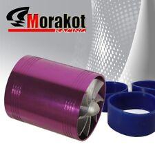 "2.5"" Tornado Turbonator Motor Intake Dual Fan Gas Fuel Saver Supercharger Purple"