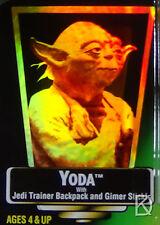 Yoda Unopened Star Wars POTF2 1997 Action Figure Hologram Green Card .03