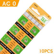 10 X AG0 LR521 379 SR521 Watch Battery Coin Cells Button Batteries Alkaline NEW