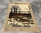 Vintage France / European Tapestry Needlepoint Rug / Mat 1.1 x 0.10 (3893 KBN)