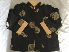 Oriental Kung Fu Unisex Silky Outfit Size 8 & 10 Brocade Black & Red NEW