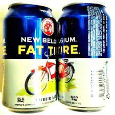 New Belgium Fat Tire empty 12 oz beer can 2014 Fort Collins Colorado Bottom Open